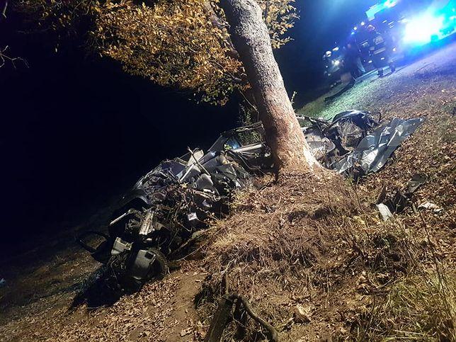Samochód najprawdopodobniej wypadł z drogi