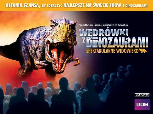 """Plakat promujący show, """"Wędrówki z dinozaurami"""""""