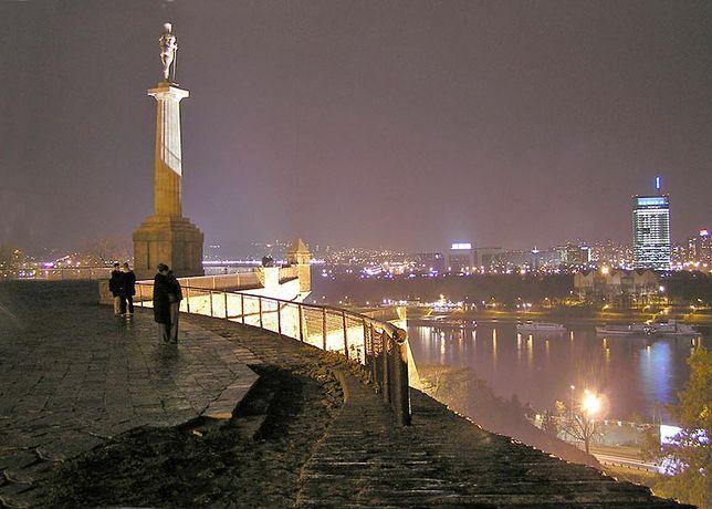 Nocny widok z Belgradu.