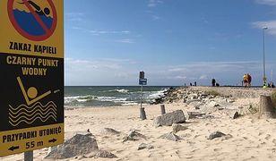 Na nadmorskich plażach w Darłowie jest tylko jeden tzw. czarny punkt