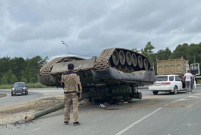 """Rosyjska armia """"zgubiła"""" czołg"""