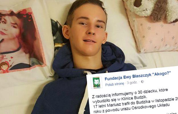 17-letni Mariusz wybudzony! To już 30. taki pacjent Kliniki Budzik