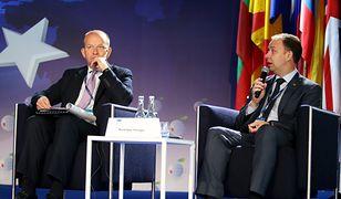 Minister zdrowia Litwy Aurelius Veryga (P) i Konstanty Radziwiłł w Krynicy