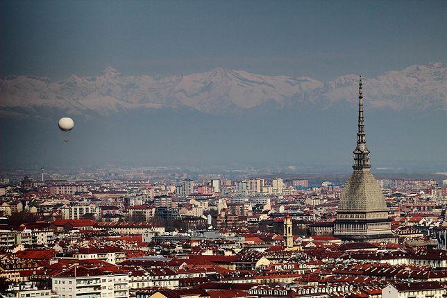 Widok na Turyn i Alpy