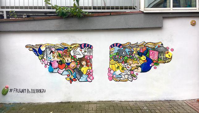 """""""Unieś się nad Warszawą"""". Nowy mural na Żoliborzu"""