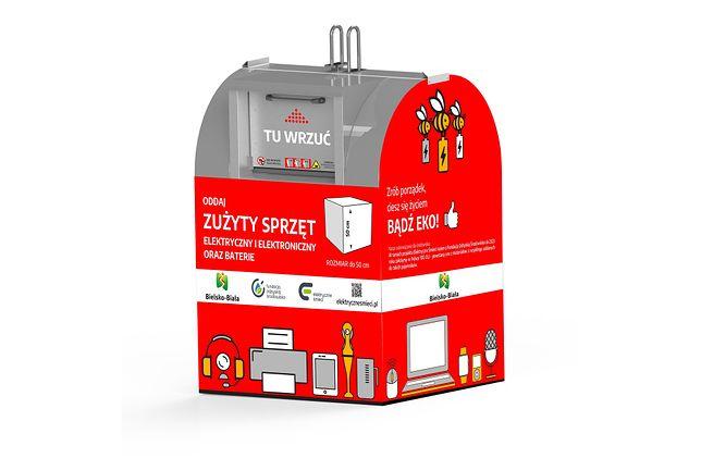 Bielsko-Biała. W mieście staną czerwone kontenery na elektrośmieci.