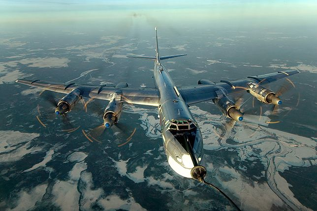 Bombowce Tu-95 w bezpośrednim sąsiedztwie kontynentalnej Alaski