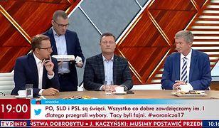 """Konsternacja w """"Woronicza 17"""". Paweł Szefernaker z PiS wręczył politykowi PSL małą """"cysternę wstydu"""""""