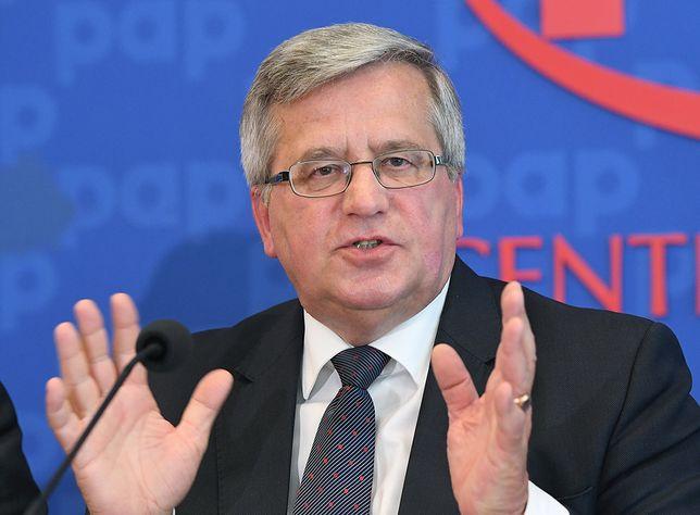 Bronisław Komorowski ogłosił, że poprze ewentualną kandydaturę Donalda Tuska
