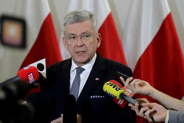 Stanisław Karczewski chciał porozmawiać z Anną Azari