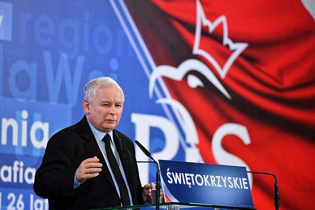 Jarosław Kaczyński na konwencji PiS w Kielcach