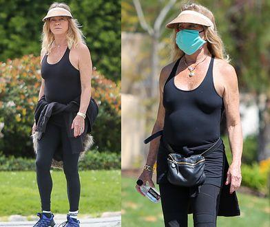 Goldie Hawn spaceruje z synem. Nie ukryła się pod maseczką