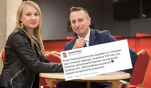 Wybory parlamentarne 2019. Krzysztof Brejza (PO-KO) z żoną (zdj. arch.)