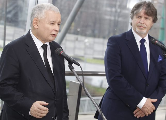 Koronawirus w Polsce. Jarosław Kaczyński i Andrzej Sośnierz.