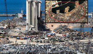 Eksplozja w Bejrucie widziana z kosmosu. Zdjęcia sprzed i po tragedii