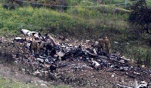 Wrak zestrzelonego izraelskiego F-16