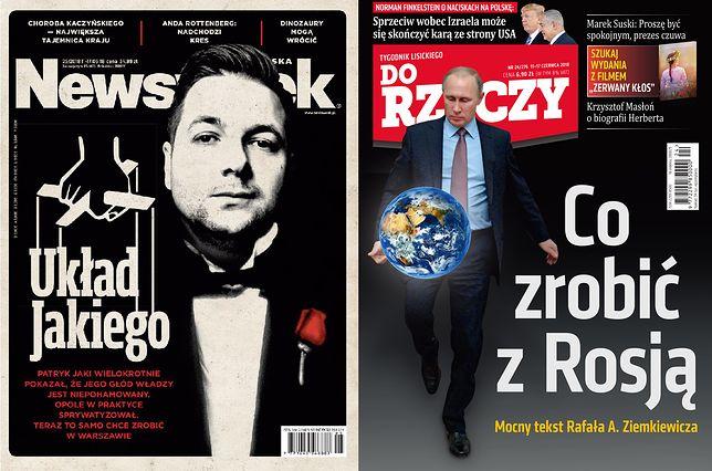 """Patryk Jaki na okładce """"Newsweeka"""" jako Vito Corleone. """"Do Rzeczy"""" martwi się Putinem"""