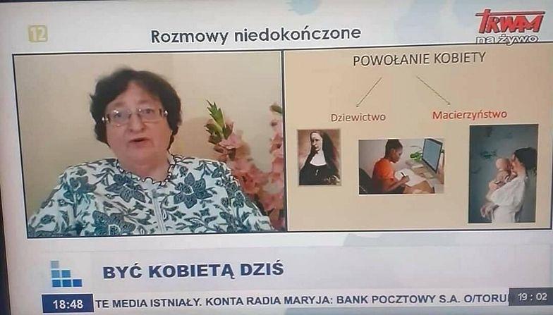 Przejęzyczenie ekspertki TV Trwam z Kraśnika. Powiedziała to na wizji