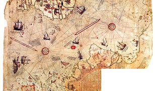 Map, które rzekomo ukazuje Atlantydę
