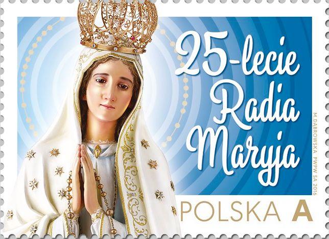 Znaczek pocztowy z okazji 25-lecia Radia Maryja