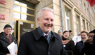Wojciech Kwaśniak, wiceszef KNF tuż po ogłoszeniu wyroku, że jego zatrzymanie było niesłuszne