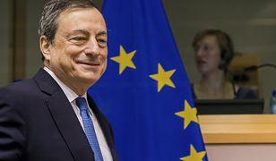 Mario Draghi jest szefem Europejskiego Banku Centralnego.