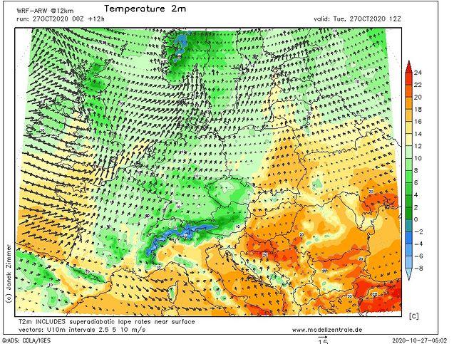 Pogoda. Polska podzielona na ciepły wschód i chłodny zachód