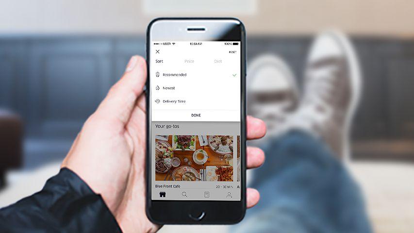UberEATS prezentuje nowości w aplikacji