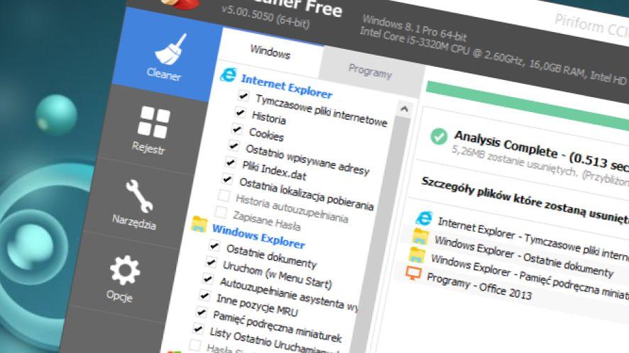 CCleaner 5.29 dostępny! Wersja skrojona na miarę Creators Update