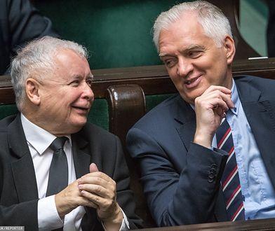 Jarosław Kaczyński i Jarosław Gowin, Sejm, 2017 rok.