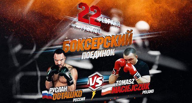 Polak znany z rosyjskich talk-show znów pobił się z Rosjaninem. Tym razem na ringu