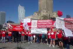 Warszawa. Protest pracowników sądownictwa. Domagają się waloryzacji płac