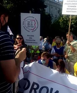 Protest przedstawicieli zawodów medycznych. Przedstawili postulaty