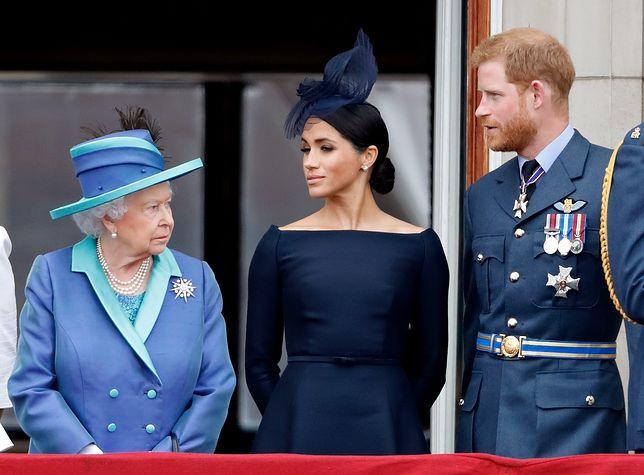 Królowa Elżbieta, Meghan Markle i książę Harry