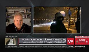 Protesty kobiet. Aleksander Kwaśniewski o atakach. Oskarża prezesa PiS