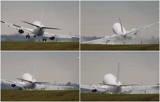 Przerażające lądowanie Boeinga 737. Samolot niemal zarył skrzydłem o ziemię