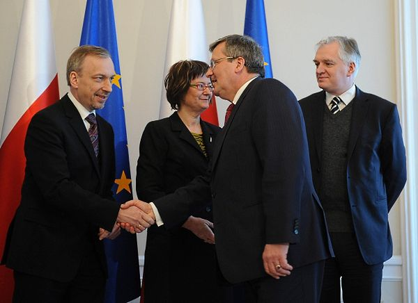 Prezydent Bronisław Komorowski, minister sprawiedliwości Jarosław Gowin, minister kultury Bogdan Zdrojewski oraz RPO prof. Irena Lipowicz