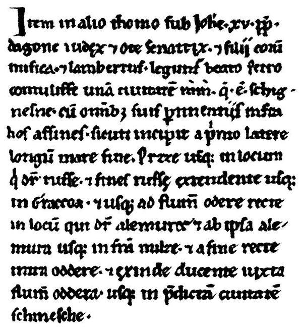 Fragment regestu Dagome iudex