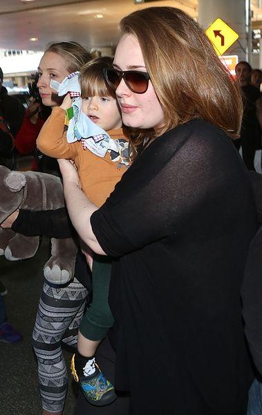 Adele Adkins z synem Angelo Koneckim
