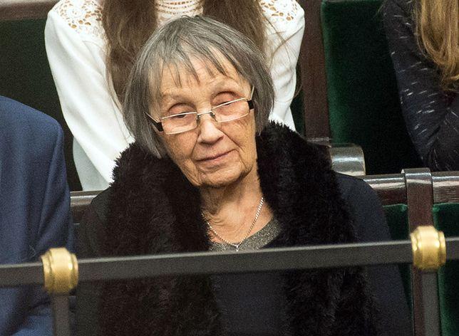 Jadwiga Morawiecka w Sejmie podczas expose syna po objęciu teki premiera