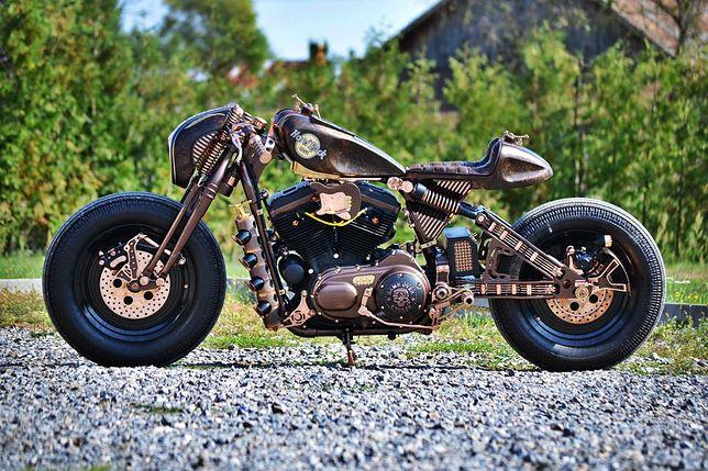 Motocykl Hard Rock Cafe zbudowany przez Game Over Cycles