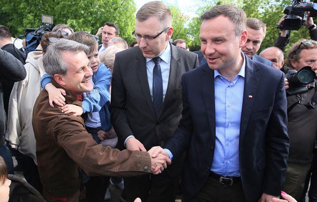Andrzej Duda podczas wizyty w Sochaczewie 11 maja