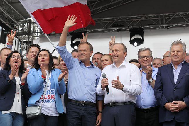 Donald Tusk i Grzegorz Schetyna stali się obiektem słownego ataku internauty