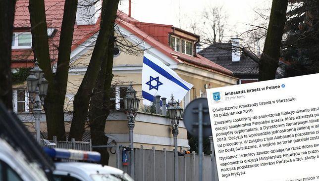 Ambasada Izraela w Warszawie została tymczasowo zamknięta