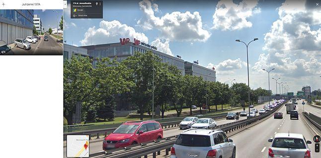Wirtualna Polska w Warszawie – widok Street View w Mapach Google.