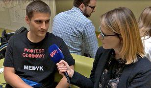 Reporterka WP rozmawia z protestującym lekarzem rezydentem