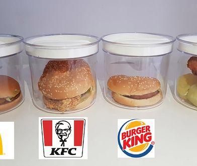 Zamknęłam burgery z sieci fast-food w pojemnikach. Co miesiąc będę sprawdzać, jak wyglądają