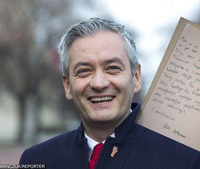 Robert Biedroń otrzymał list od 10-latka