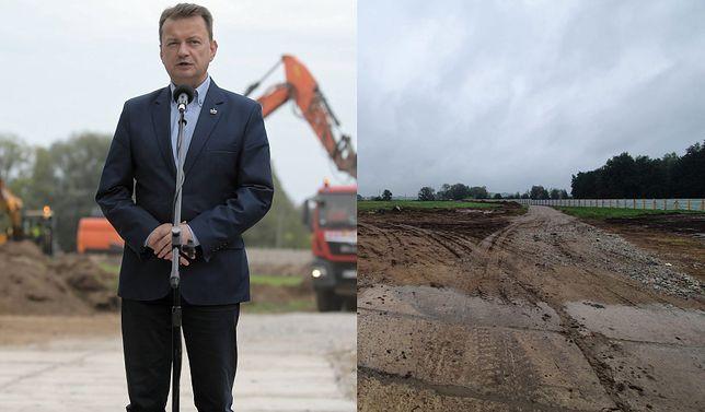 Szef MON Mariusz Błaszczak zachwalał w poniedziałek budowę muzeum. We wtorek plac był pusty