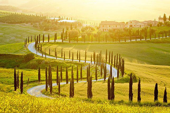 Krajobraz Włoch - Toskania